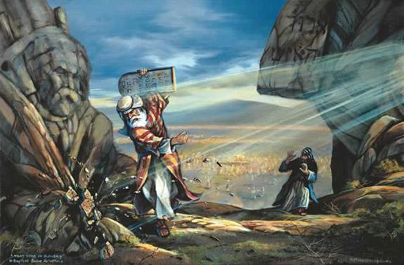 Moses Breaking The Ten Commandments